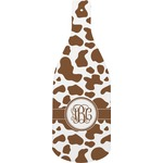 Cow Print Bottle Shaped Cutting Board (Personalized)