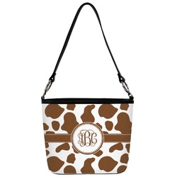 Cow Print Bucket Bag w/ Genuine Leather Trim (Personalized)
