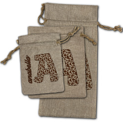 Cow Print Burlap Gift Bags (Personalized)