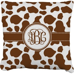 """Cow Print Faux-Linen Throw Pillow 26"""" (Personalized)"""