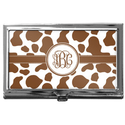 Cow Print Business Card Case