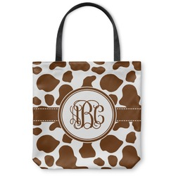 Cow Print Canvas Tote Bag (Personalized)