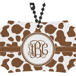 Cow Print Rear View Mirror Ornament (Personalized)