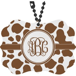 Cow Print Rear View Mirror Charm (Personalized)