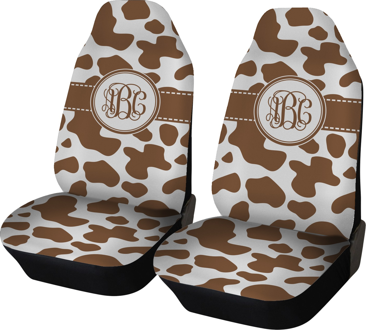 Cow Print Car Seat Covers Set Of Two Personalized