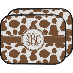 Cow Print Car Floor Mats (Back Seat) (Personalized)