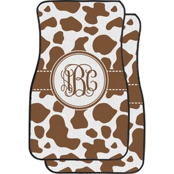 Cow Print Car Floor Mats (Front Seat) (Personalized)