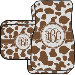 Cow Print Car Floor Mats Set - 2 Front & 2 Back (Personalized)