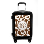 Cow Print Carry On Hard Shell Suitcase (Personalized)