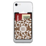 Cow Print 2-in-1 Cell Phone Credit Card Holder & Screen Cleaner (Personalized)