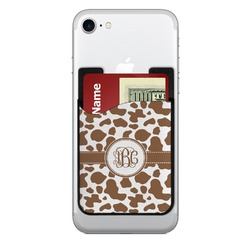 Cow Print Cell Phone Credit Card Holder (Personalized)