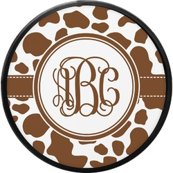 Cow Print Round Trailer Hitch Cover (Personalized)