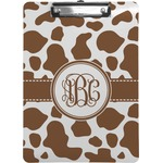 Cow Print Clipboard (Personalized)