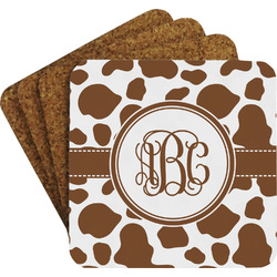 Cow Print Coaster Set (Personalized)