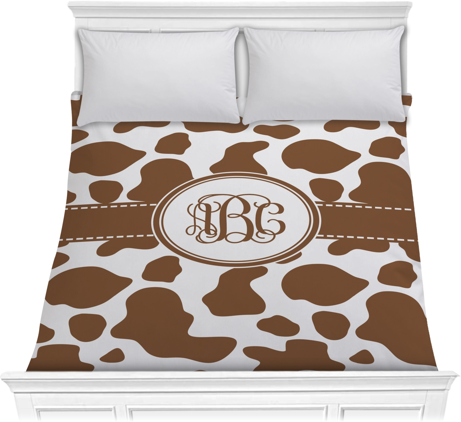 Cow Print Comforter Full Queen Personalized