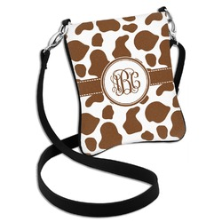 Cow Print Cross Body Bag - 2 Sizes (Personalized)