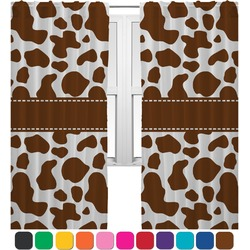 Cow Print Curtains (2 Panels Per Set) (Personalized)