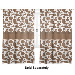 "Cow Print Curtains - 20""x54"" Panels - Lined (2 Panels Per Set) (Personalized)"
