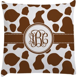 Cow Print Decorative Pillow Case (Personalized)