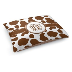 Cow Print Dog Pillow Bed (Personalized)