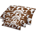 Cow Print Dog Bed w/ Monogram