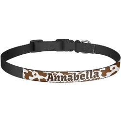 Cow Print Dog Collar - Large (Personalized)