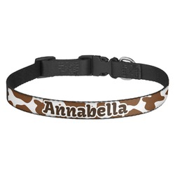 Cow Print Dog Collar (Personalized)