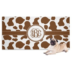 Cow Print Dog Towel (Personalized)