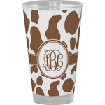 Cow Print Drinking / Pint Glass (Personalized)