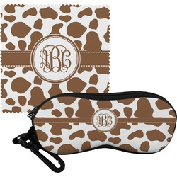 Cow Print Eyeglass Case & Cloth (Personalized)