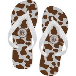 Cow Print Flip Flops (Personalized)