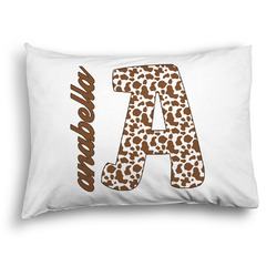 Cow Print Pillow Case - Standard - Graphic (Personalized)