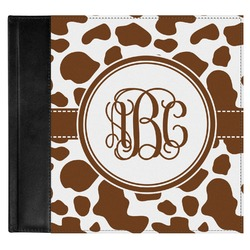 Cow Print Genuine Leather Baby Memory Book (Personalized)