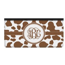 Cow Print Genuine Leather Checkbook Cover (Personalized)