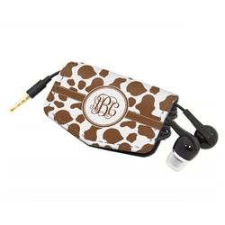 Cow Print Genuine Leather Cord Wrap (Personalized)