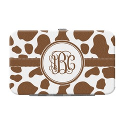 Cow Print Genuine Leather Small Framed Wallet (Personalized)