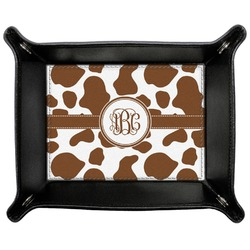 Cow Print Genuine Leather Valet Tray (Personalized)
