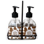 Cow Print Soap & Lotion Dispenser Set (Glass) (Personalized)