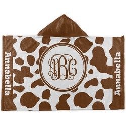 Cow Print Kids Hooded Towel (Personalized)