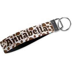 Cow Print Webbing Keychain Fob - Small (Personalized)