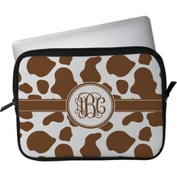 """Cow Print Laptop Sleeve / Case - 12"""" (Personalized)"""