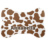 Cow Print Bone Shaped Dog Food Mat (Personalized)
