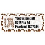Cow Print Return Address Labels (Personalized)