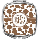 Cow Print Compact Makeup Mirror (Personalized)