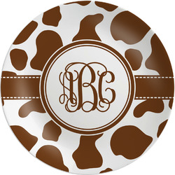 Cow Print Melamine Plate (Personalized)