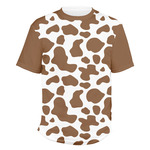 Cow Print Men's Crew T-Shirt (Personalized)