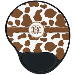 Cow Print Mouse Pad with Wrist Support