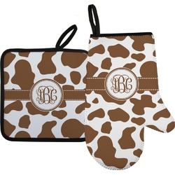 Cow Print Oven Mitt & Pot Holder (Personalized)