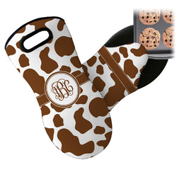 Cow Print Neoprene Oven Mitt (Personalized)