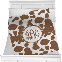 "Cow Print Fleece Blanket - Twin / Full - 80""x60"" - Double Sided (Personalized)"
